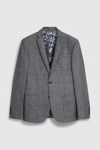 Cotton Blend Suit: Jacket