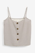 Button Through Cami Top