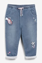 Sequin Rainbow Pull-On Jeans (3mths-7yrs)