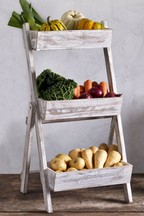 Folding Wooden Fruit And Veg Storage