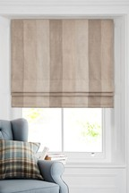 Natural Locksley Woven Stripe Roman Blind
