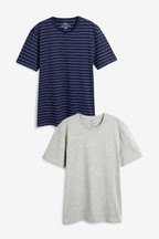 Stripe And Plain T-Shirts Two Pack