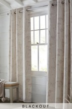 Cow Parsley Blackout Eyelet Curtains