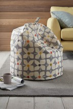 Retro Geo Floral Bean Bag