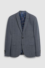 Skinny Fit Marzotto Signature Check Suit: Jacket
