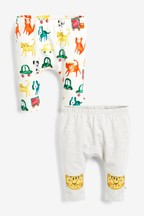 2 Pack Animal Leggings (0mths-2yrs)
