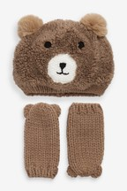 Fleece Bear Hat And Mitts Two Piece Set (Younger)