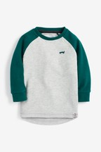 Long Sleeve Raglan Cosy Colourblock T-Shirt (3mths-7yrs)