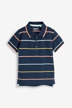 Short Sleeve Fluro Stripe Polo (3mths-7yrs)