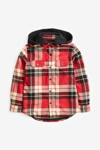 Check Jersey Lined Hooded Shacket (3-16yrs)