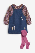Embroidered Pinafore Set (3mths-7yrs)