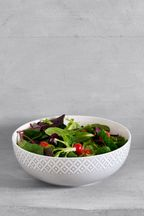 Geo Embossed Serve Bowl