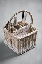 Hand Woven Willow Cutlery Caddy