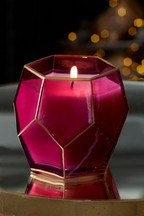Red Ruby Faceted Candle