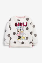 Minnie Mouse™ And Daisy Duck Sequin Sweatshirt (3-16yrs)
