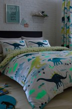 Bedlam Glow In The Dark Dino Duvet Cover and Pillowcase Set