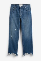 Free People Mid Wash Maggie Straight Fit Jeans