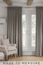 Made To Measure Stone Soft Velour Curtains