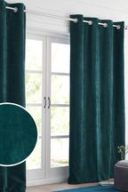 Soft Velour Juniper Green Made To Measure Curtains