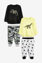 2 Pack Dino Camouflage Woven Printed Pyjamas (9mths-8yrs)