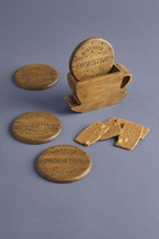 4 Pack Digestive Biscuit Coaster Holder