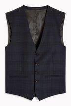 Slim Fit Angelico Signature Check Suit: Waistcoat