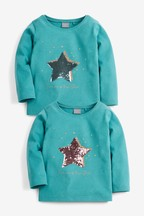 Sequin Star Long Sleeve T-Shirt (9mths-7yrs)