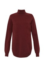 Great Plains Cabernet Red Moselle Knit Roll Neck Jumper