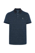 F&F Navy/Charcoal Jaspe Stripe Polo