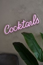 Neon Effect Cocktail Plaque