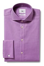 Moss 1851 Tailored Fit Berry Double Cuff Iron Shirt