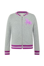 Monsoon Children Grey Unicorn Bomber Jacket