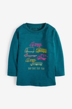 Long Sleeve Truck And Lorries T-Shirt (3mths-7yrs)