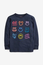 Long Sleeve Rainbow Faces T-Shirt (3-16yrs)