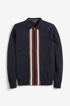 Stripe Zip Through Jumper