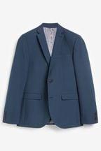Wool Mix Textured Suit: Jacket