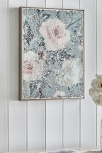 Cracked Glass Mosaic Floral Framed Art