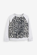 Faux Fur Crew Neck Sweatshirt (3-16yrs)