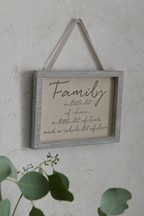 Family Embroidered Hanging Sign
