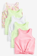5 Pack Tie Front Vests (3-16yrs)
