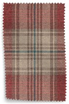 Versatile Check Stirling Red Upholstery Fabric Sample