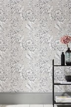 Paste The Wall Outline Floral Wallpaper
