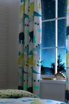 Bedlam Dino Glow In The Dark Curtains