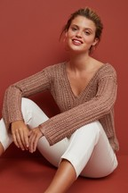 Metallic Crochet Look Jumper
