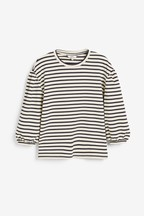 Stripe Puff Sleeve Top