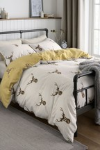 Brushed Cotton Stag Duvet Cover And Pillowcase Set