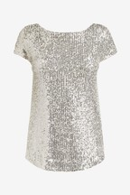 F&F Silver Sequin Top
