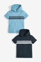 2 Pack Short Sleeve Hooded T-Shirts (3-16yrs)