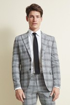 Moss London Slim Fit Black Check Jacket