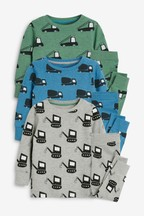 3 Pack Stampy Transport Pyjamas (9mths-8yrs)